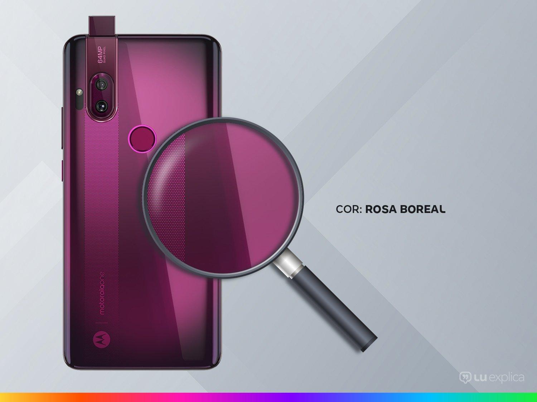 """Smartphone Motorola One Hyper Rosa Boreal 128GB, Tela Total Vision 6.5"""", Câmera Traseira Dupla, Câmera Selfie Pop-Up de 32MP, Processador Qualcomm - 9"""
