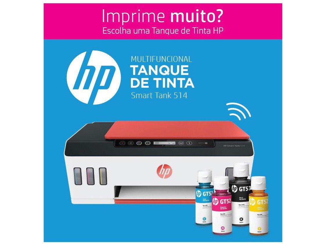 Foto 3 - Impressora Multifuncional HP Smart Tank 514 - Tanque de Tinta Colorido Wi-Fi