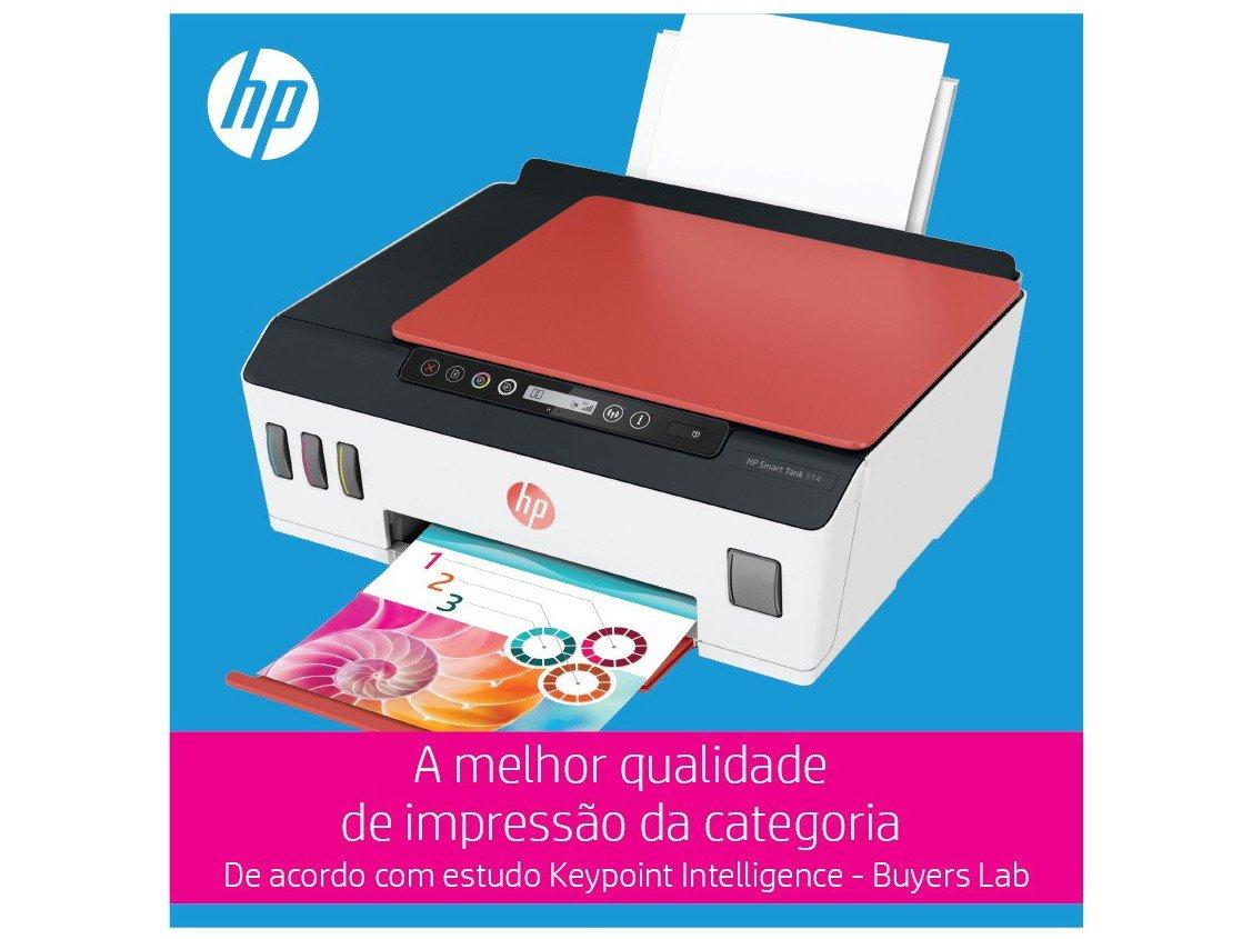 Foto 6 - Impressora Multifuncional HP Smart Tank 514 - Tanque de Tinta Colorido Wi-Fi