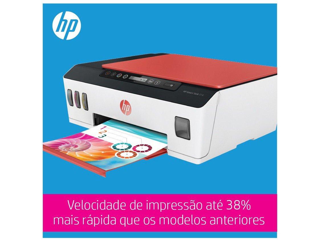 Foto 9 - Impressora Multifuncional HP Smart Tank 514 - Tanque de Tinta Colorido Wi-Fi