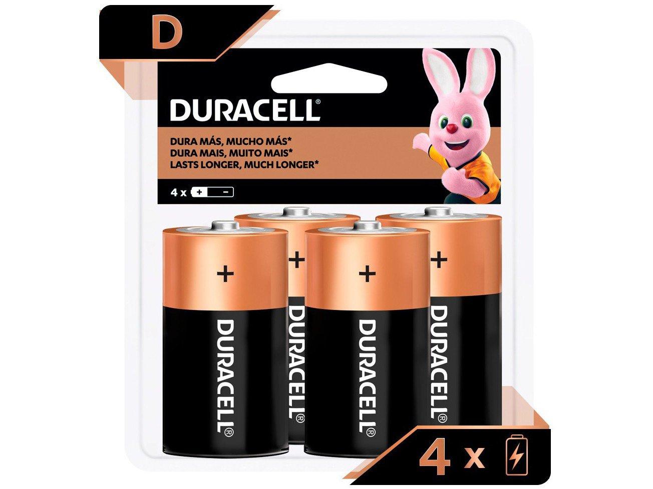 Pilha D Alcalina 4 Unidades - Duracell - 2
