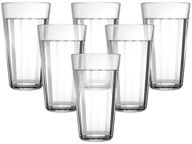 Jogo de Copos de Vidro para Cerveja 450ml - 6 Peças Americano Long Drink