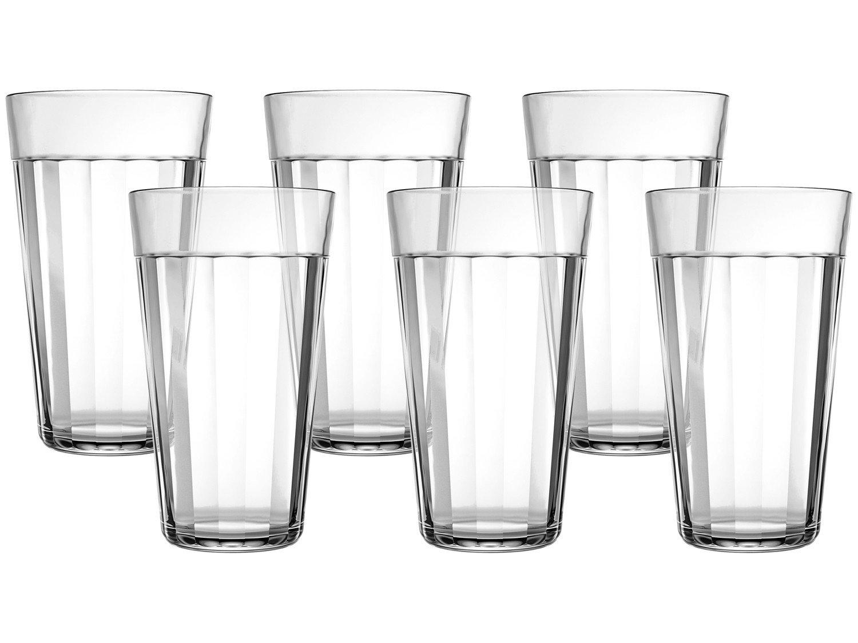 Jogo de Copos de Vidro para Cerveja 450ml - 6 Peças Americano Long Drink - 1
