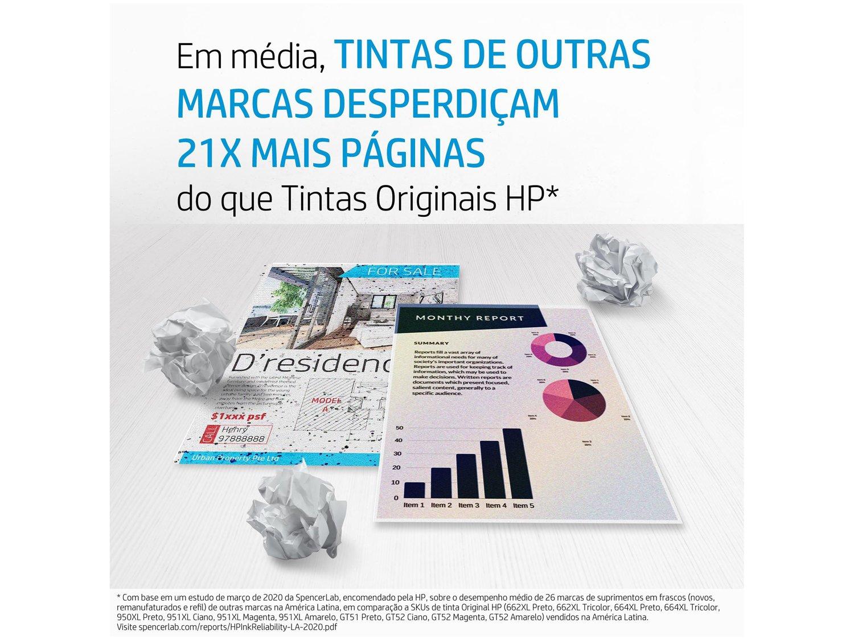 Garrafa de Tinta HP GT53 Preto - Original - 4