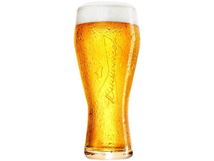 Jogo de Copos de Vidro para Cerveja Transparente - 400ml 6 Peças Ambev Budweiser - 2