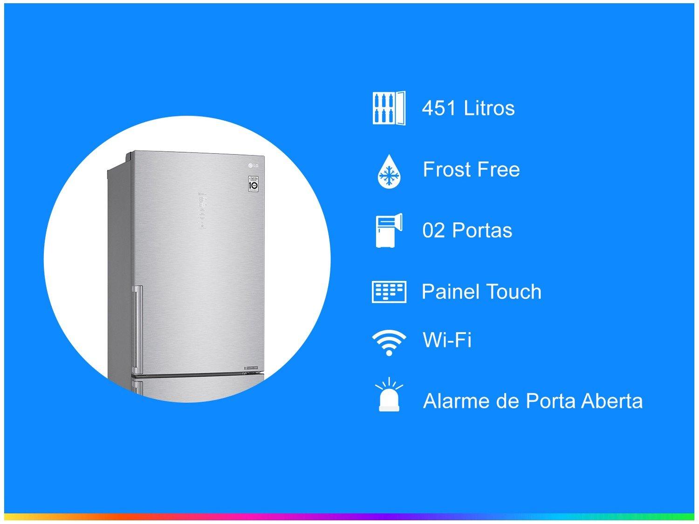 Refrigerador LG Bottom Freezer Universe Refresh com Moist Balance Crisper™ e Compressor Linear GC-B659BSB Aço Escovado – 451L - 110V - 2