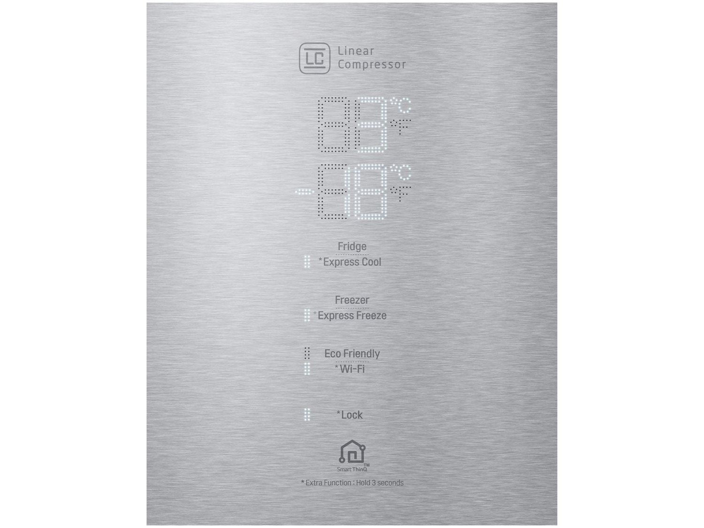 Refrigerador LG Bottom Freezer Universe Refresh com Moist Balance Crisper™ e Compressor Linear GC-B659BSB Aço Escovado – 451L - 110V - 6
