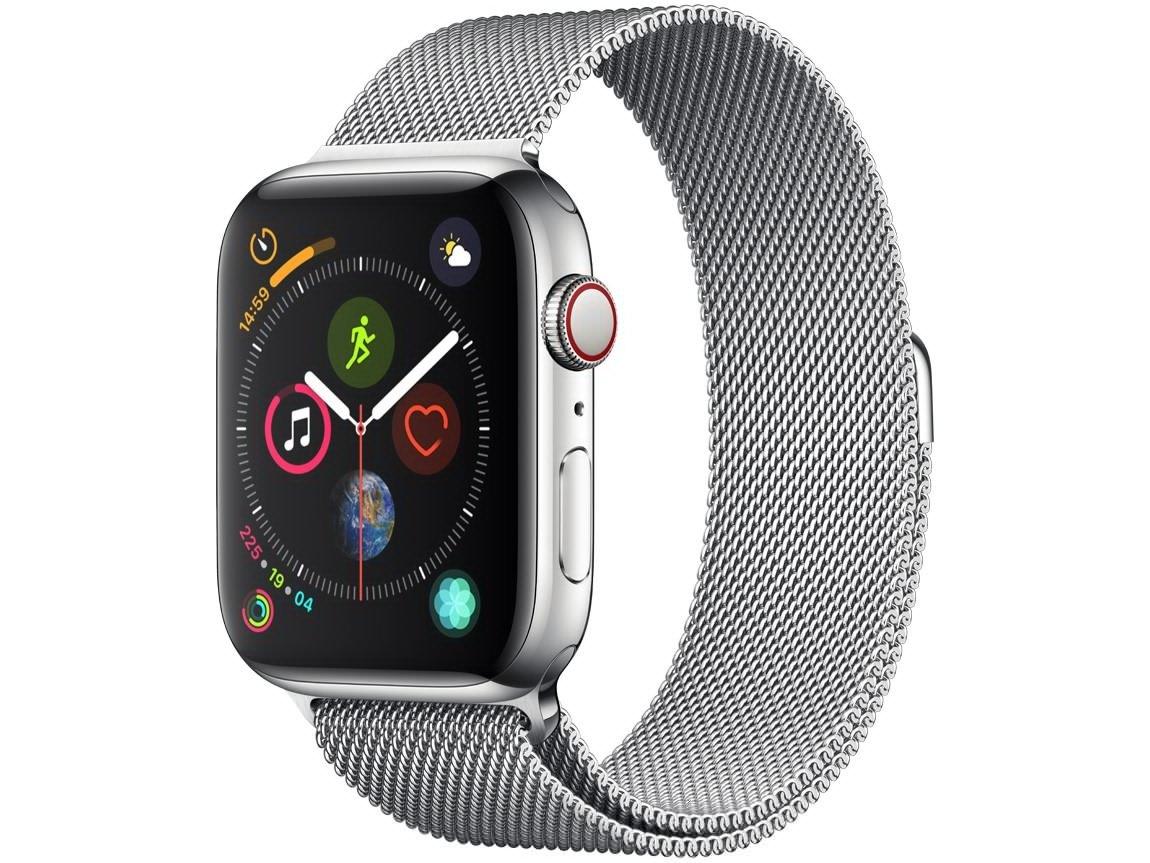 Apple Watch Series 4 44mm GPS + Cellular Wi-Fi - Bluetooth Pulseira Aço Inoxidável 16GB