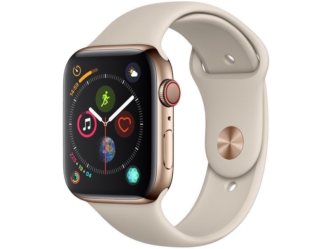 Apple Watch Series 4 44mm GPS + Cellular Wi-Fi - Bluetooth Pulseira Esportiva 16GB
