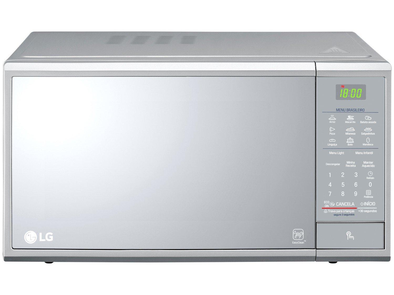 Forno de Micro-ondas LG MS3095LR com Revestimento EasyClean 30L - Prata - 220v - 3