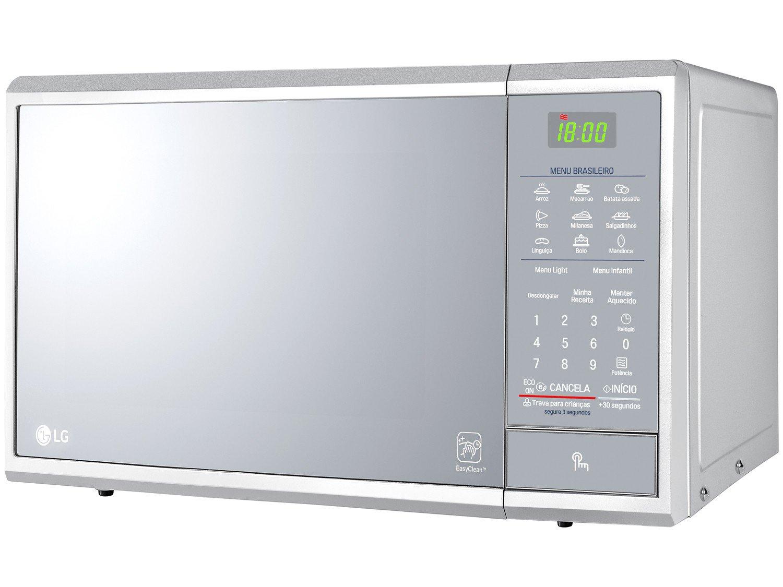 Forno de Micro-ondas LG MS3095LR com Revestimento EasyClean 30L - Prata - 220v - 11