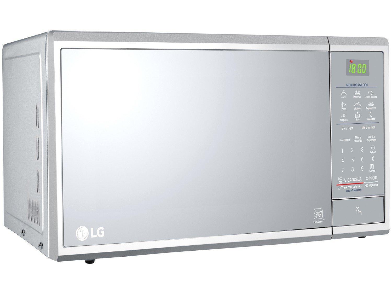 Forno de Micro-ondas LG MS3095LR com Revestimento EasyClean 30L - Prata - 220v - 15