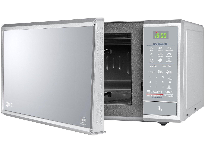 Forno de Micro-ondas LG MS3095LR com Revestimento EasyClean 30L - Prata - 220v - 16