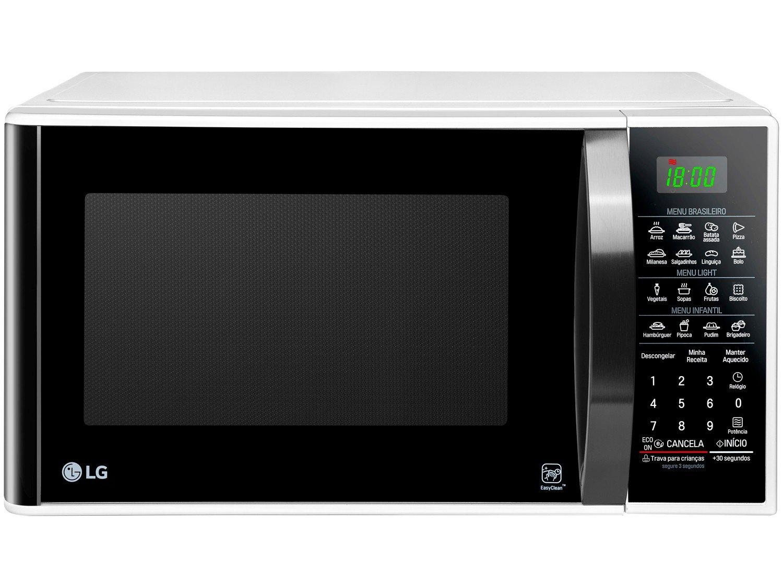 Forno de Micro-ondas LG MS3091BC com Função Eco On 30L - Branco - 220v - 3