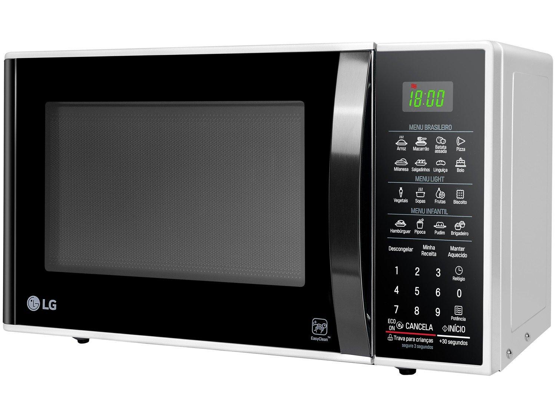 Forno de Micro-ondas LG MS3091BC com Função Eco On 30L - Branco - 220v - 11