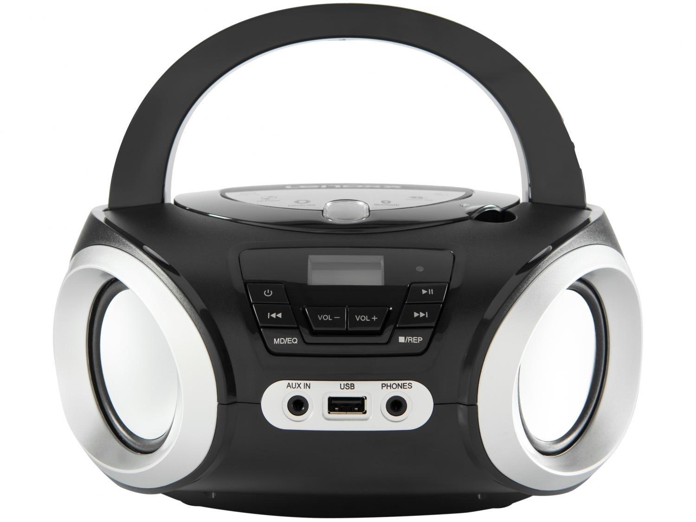 Rádio Portátil Lenoxx Boombox Bluetooth, Rádio FM e CD Player - 5W - 1