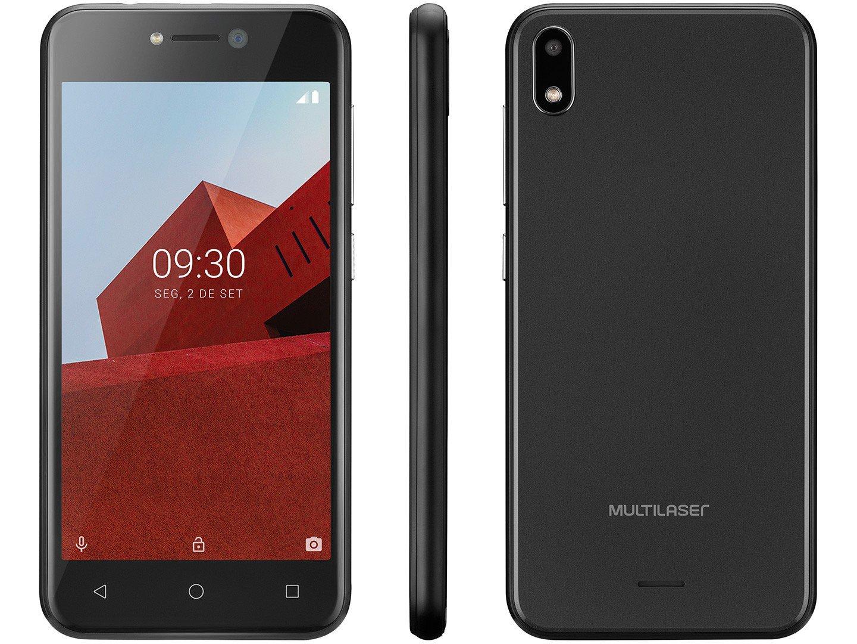 """Smartphone Multilaser E P9101 Preto com 16GB, Tela 5"""", Android Oreo, Dual Chip, Câmera 5MP, 3G, Bluetooth e Processador Quad core - 1"""