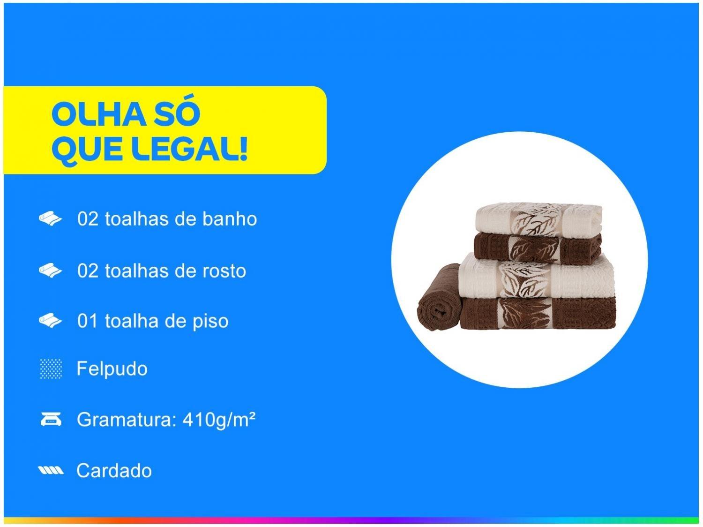 Jogo de Banho Karsten Lins 5 Peças – Marfim/Chocolate - 3