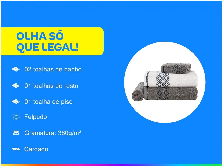 Jogo de Banho Karsten Nardin 4 Peças – Cinza//Branco - 3