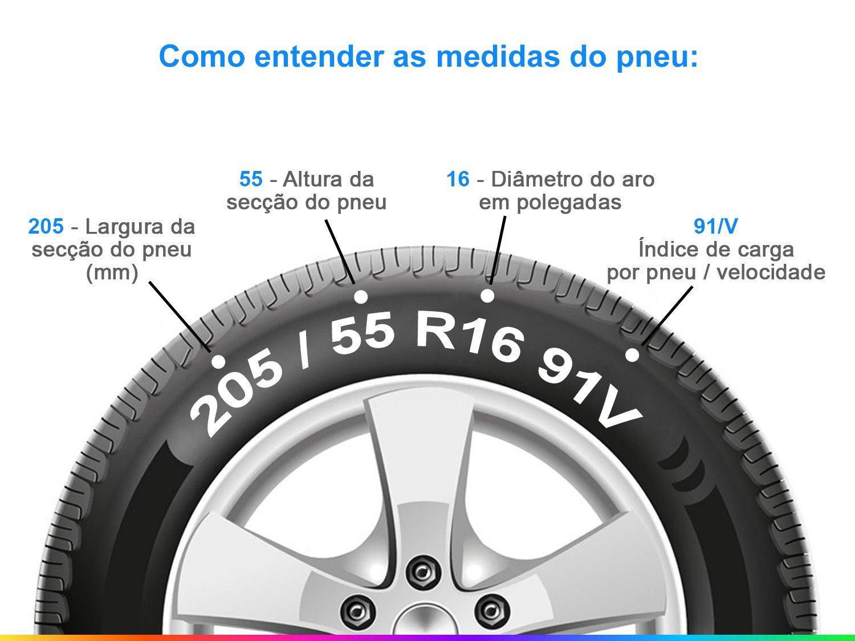 "Pneu Aro 16"" Pirelli 205/55R16 91V Cinturato P7 -  - 1"