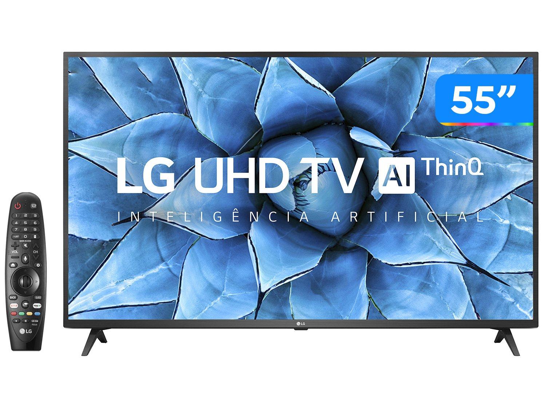 "Smart TV 4K LED IPS 55"" LG 55UN7310PSC Wi-Fi - Bluetooth HDR Inteligência Artificial 3 HDMI 2 USB - Bivolt"