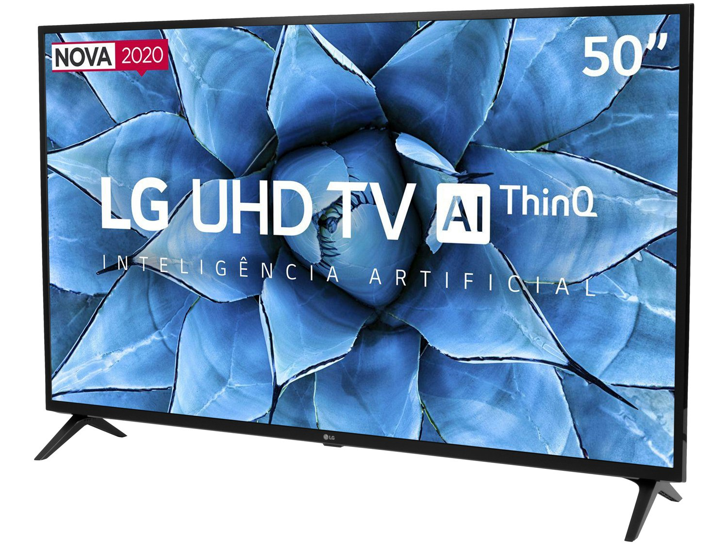 "Smart TV 4K LED 50"" LG 50UN7310PSC Wi-Fi Bluetooth - Inteligência Artificial 3 HDMI 2 USB - Bivolt - 3"