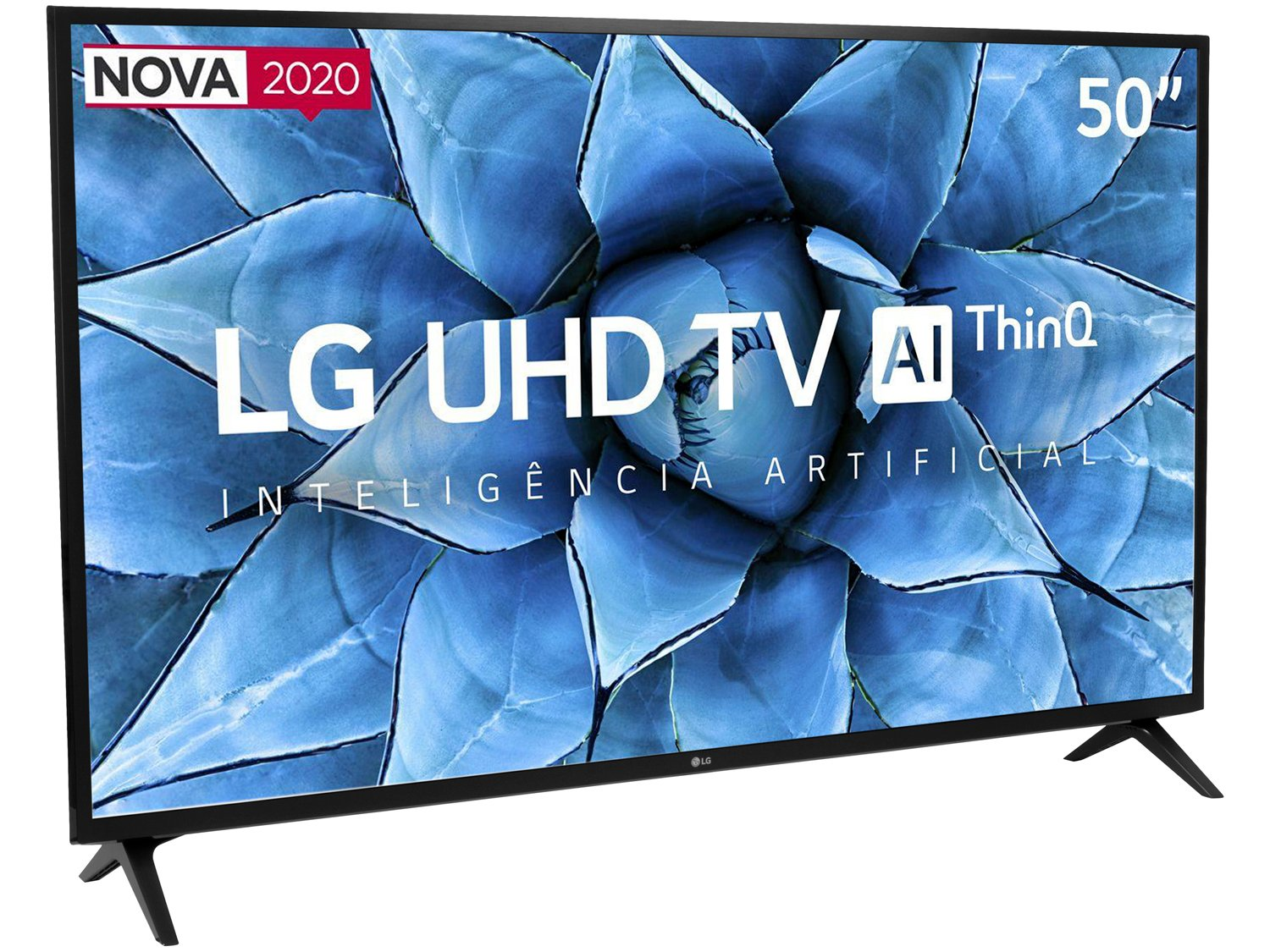 "Smart TV 4K LED 50"" LG 50UN7310PSC Wi-Fi Bluetooth - Inteligência Artificial 3 HDMI 2 USB - Bivolt - 4"