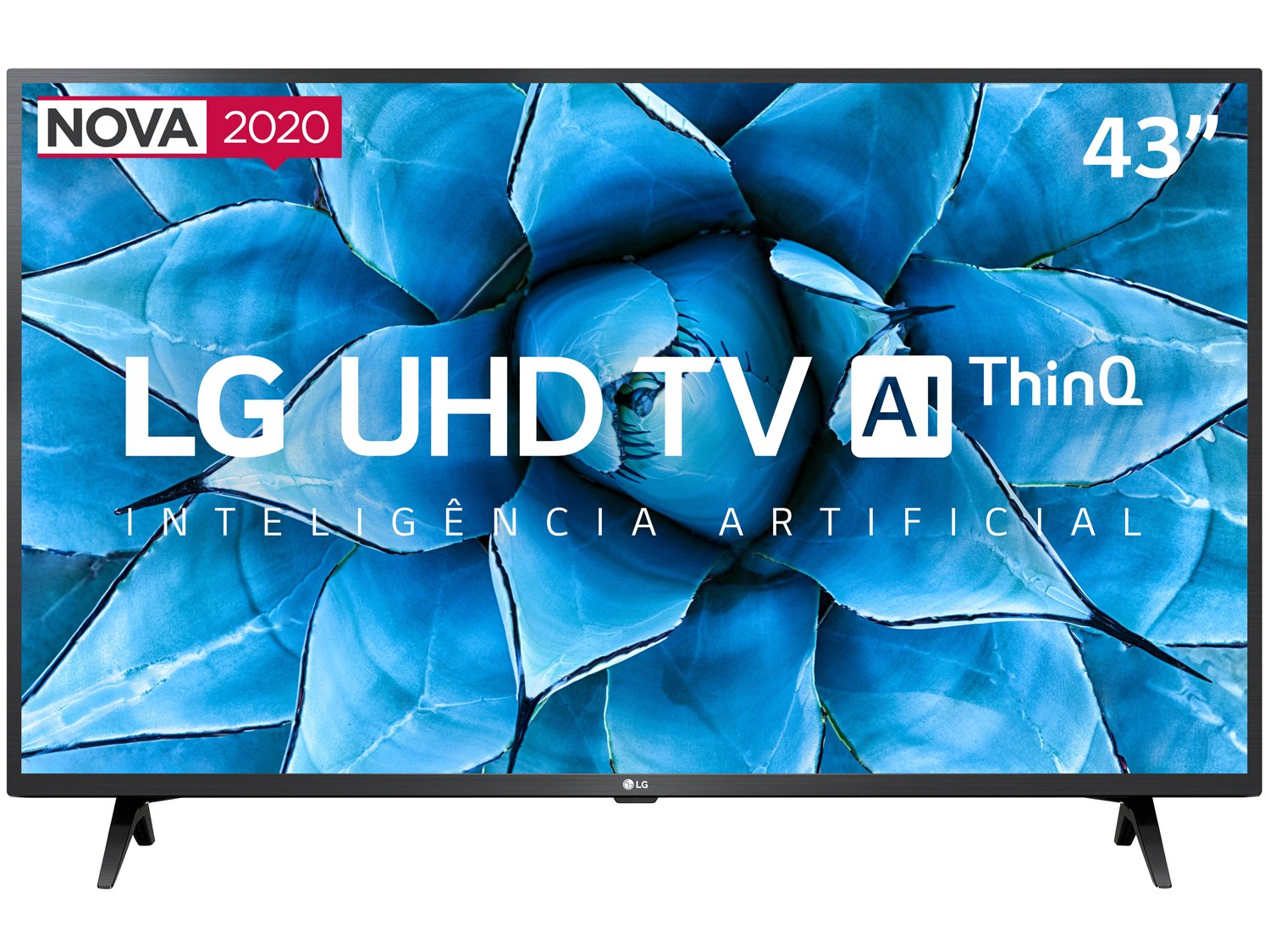 "Smart TV 4K LED IPS 43"" LG 43UN7300PSC Wi-Fi - Bluetooth Inteligência Artificial 3 HDMI 2 USB - Bivolt - 3"