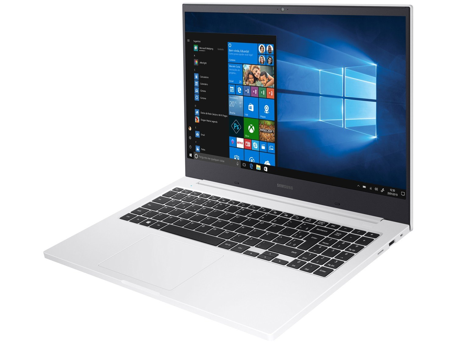 Notebook Samsung Book E30 Intel Core i3-10110U 10ª Geração 4GB 1TB 15.6`` Windows 10 Home NP550XCJ-KT2BR – Branco - 7