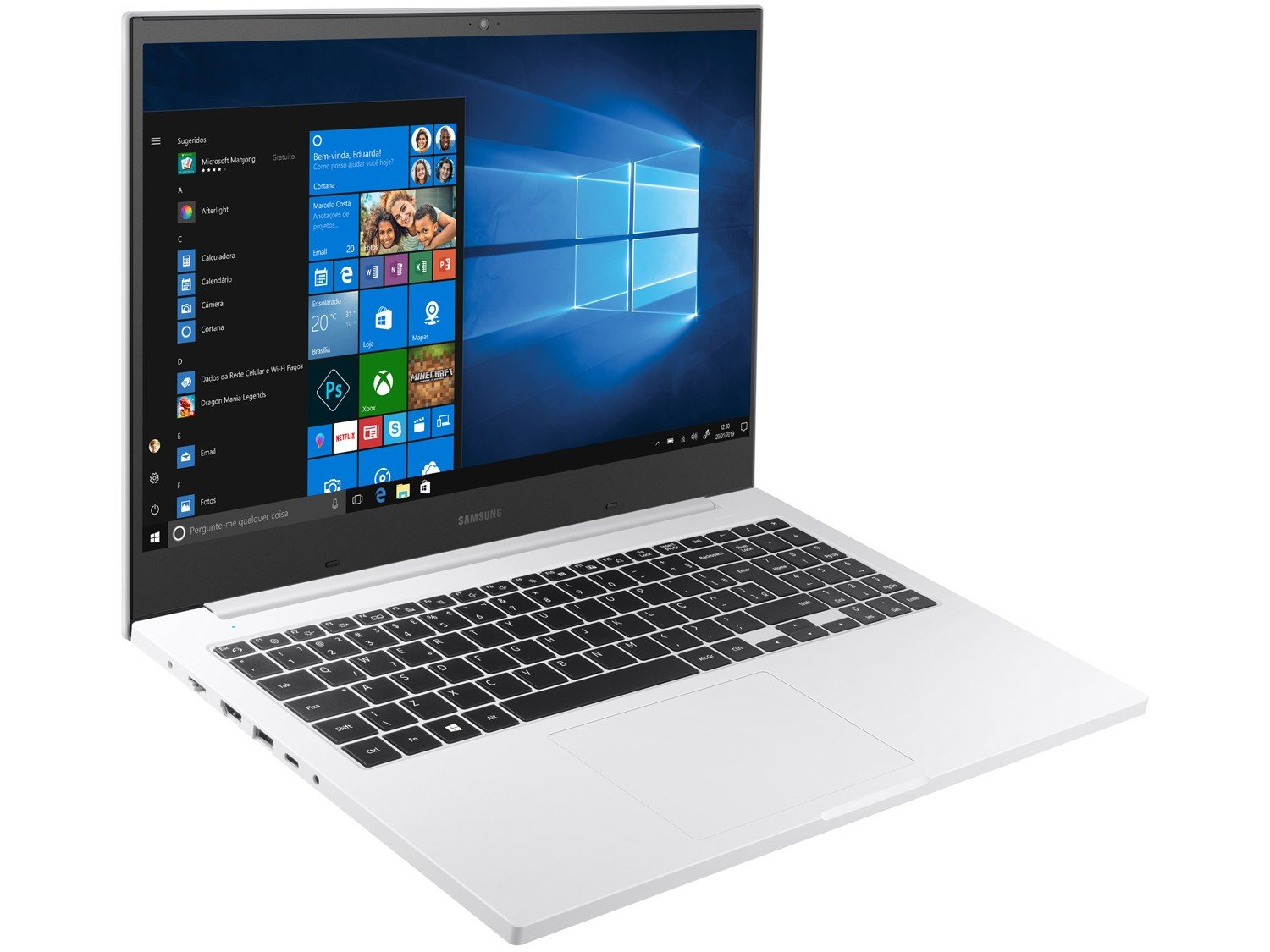 Notebook Samsung Book E30 Intel Core i3-10110U 10ª Geração 4GB 1TB 15.6`` Windows 10 Home NP550XCJ-KT2BR – Branco - 8