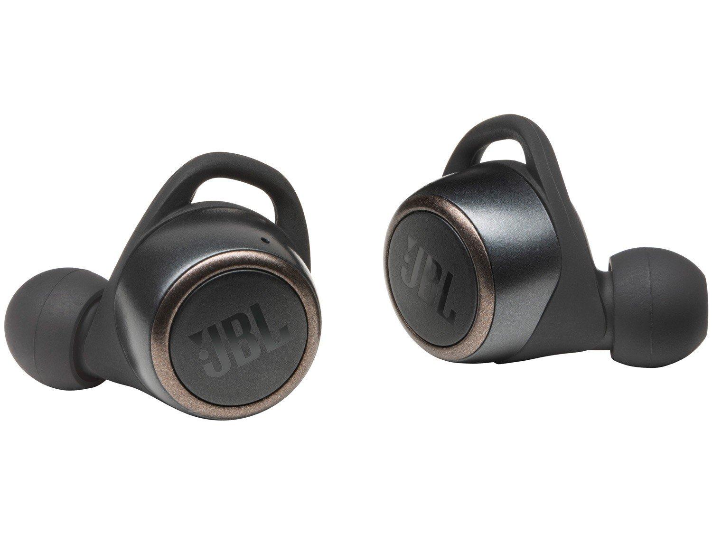 Fone de Ouvido Bluetooth JBL Live 300TWS True - Wireless com Microfone Resistente à Água Preto - Bivolt
