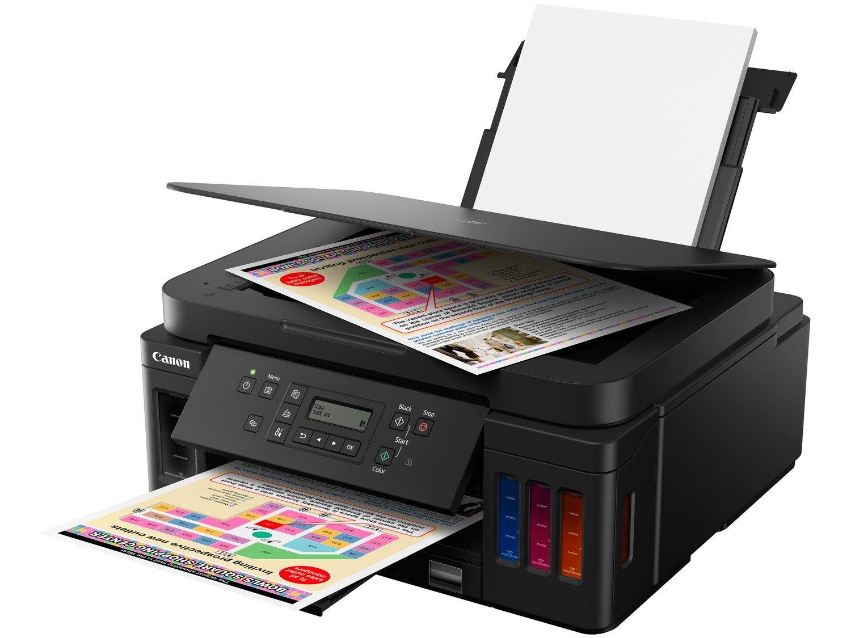 Impressora Multifuncional Canon G6010 - Tanque de Tinta Colorida Wi-Fi USB - Bivolt