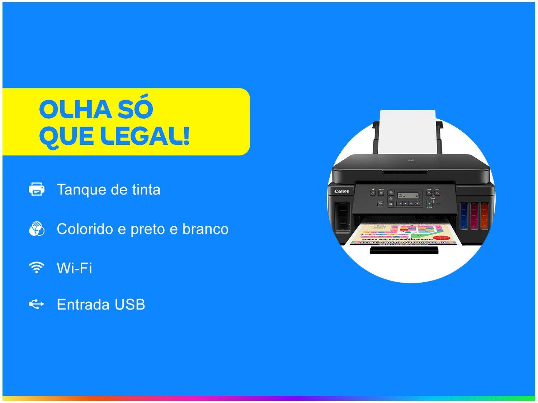 Impressora Multifuncional Canon G6010 - Tanque de Tinta Colorida Wi-Fi USB - Bivolt - 1