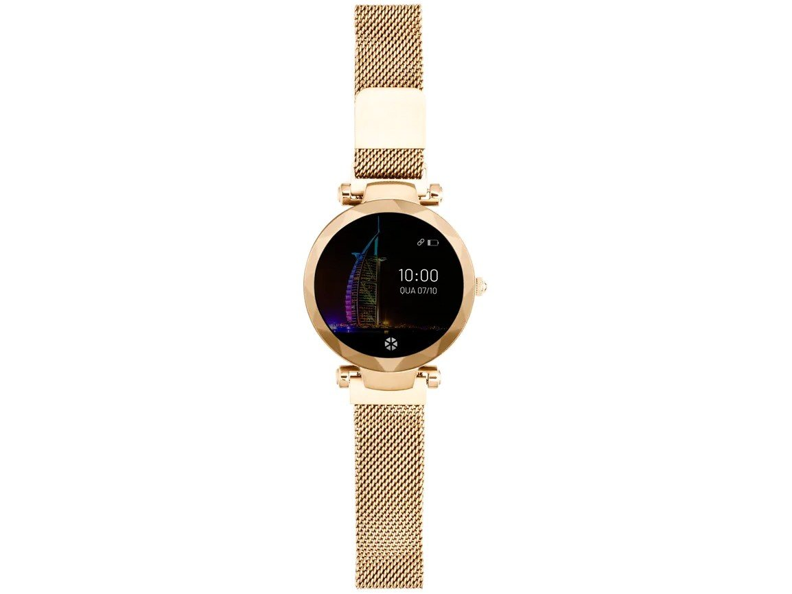 Relógio Smartwatch Atrio Dubai Android/IOS Dourado - 2