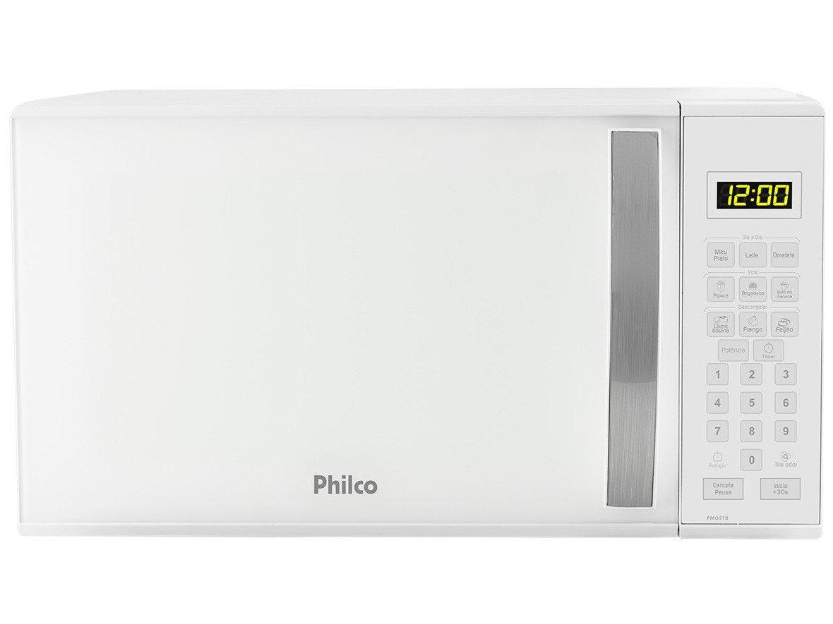 Forno de Micro-ondas Philco PMO21B com Teclas Fáceis Branco - 21L - 220v - 1