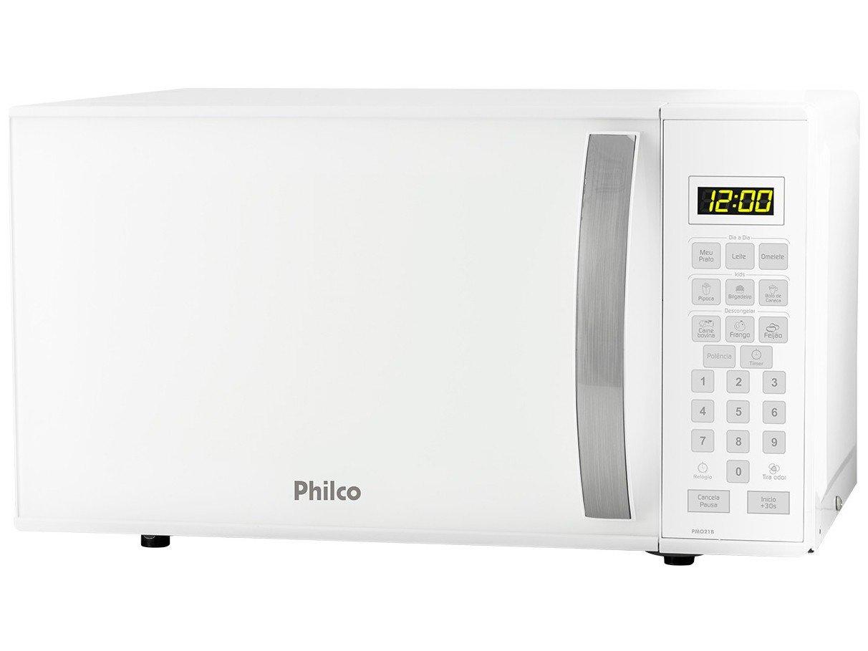 Forno de Micro-ondas Philco PMO21B com Teclas Fáceis Branco - 21L - 220v - 3