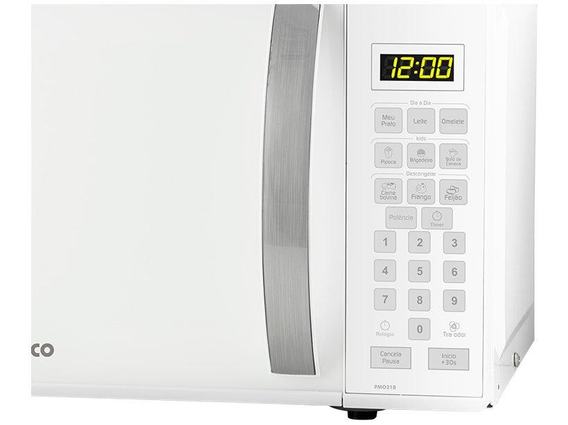 Forno de Micro-ondas Philco PMO21B com Teclas Fáceis Branco - 21L - 220v - 5