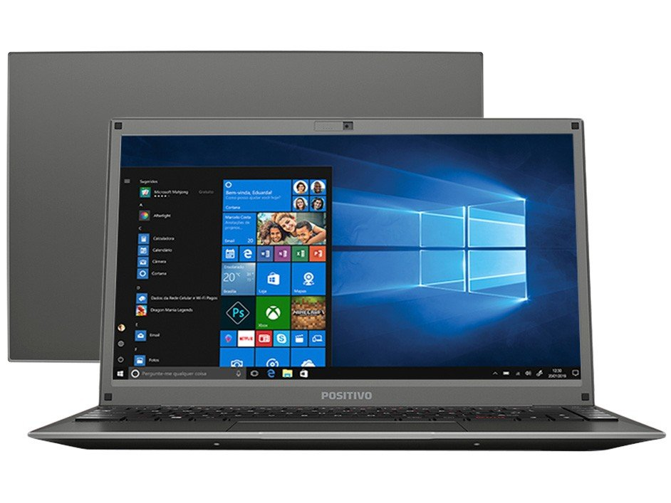 "Notebook Positivo Motion C4128D Intel Celeron - Dual Core 4GB 128GB SSD 14"" Windows 10 - Bivolt"