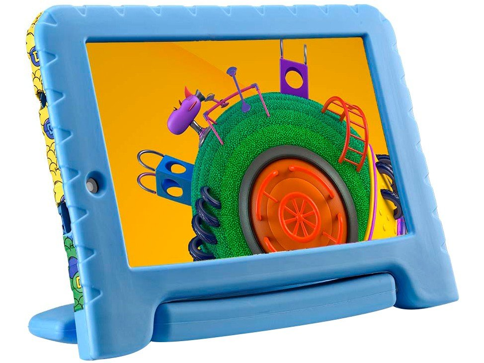 "Tablet Infantil Multilaser Discovery Kids 16GB 7"" Wi-fi Dual Câm Azul - 2"