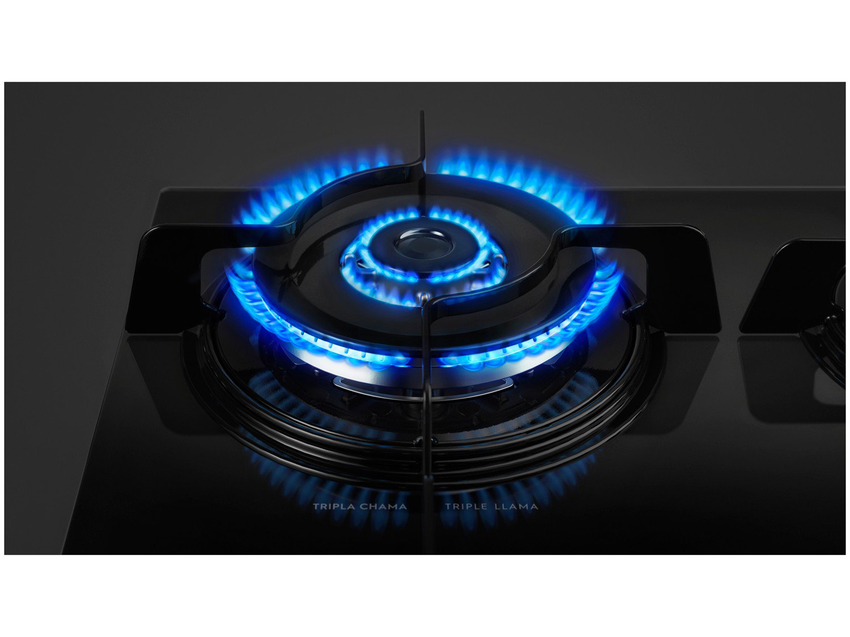Cooktop a Gás Electrolux KE4TP 4 Bocas Tripla Chama Bivolt - Preto - 11