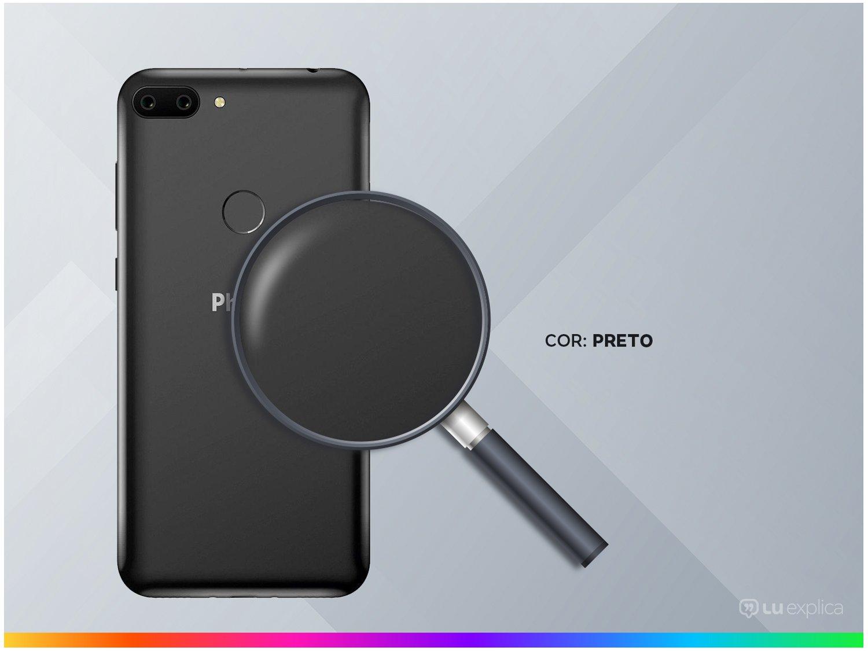 """Smartphone Philco PCS01 64GB Preto 4G Octa-Core - 4GB RAM Tela 5,45"""" Câm. Dupla + Selfie 5MP - 2"""