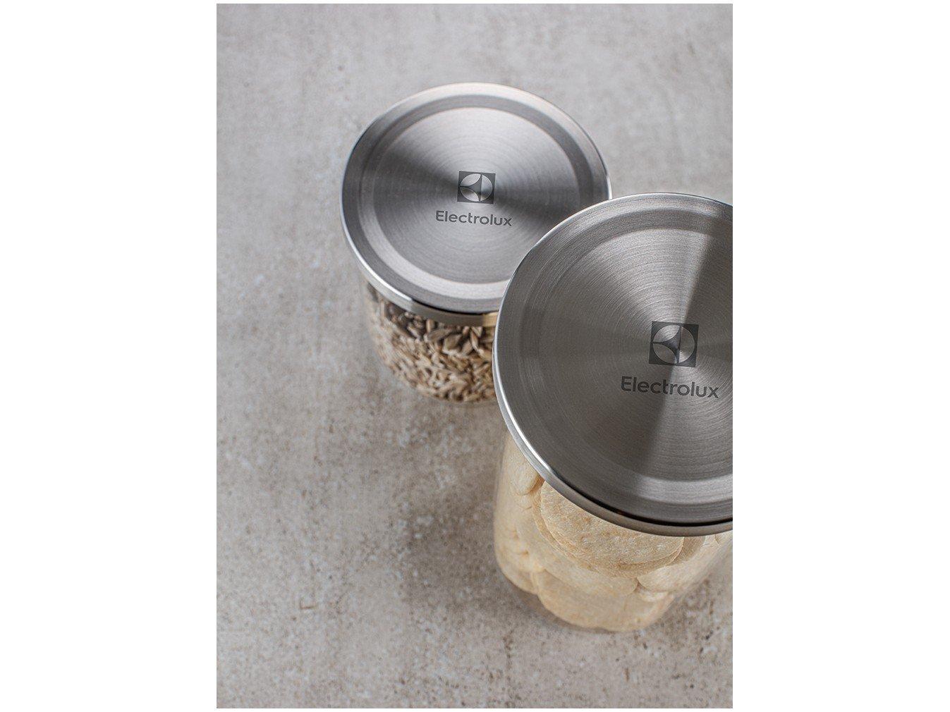 Jogo de Potes de Vidro Hermético Electrolux - com Tampa Redondo A18848101 4 Peças - 2