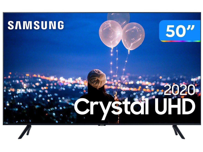 """Smart TV 4K LED 50"""" Samsung UN50TU8000GXZD - Wi-Fi Bluetooth HDR 3 HDMI 2 USB - Bivolt"""