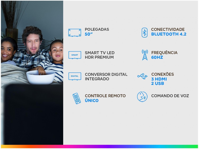 """Smart TV 4K LED 50"""" Samsung UN50TU8000GXZD - Wi-Fi Bluetooth HDR 3 HDMI 2 USB - Bivolt - 1"""