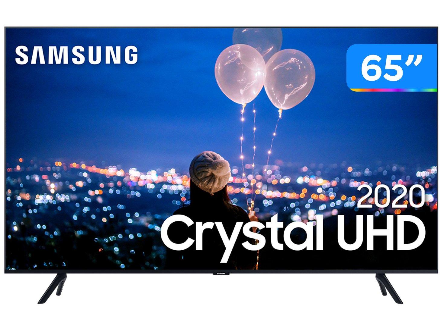 """Smart TV 4K LED 65"""" Samsung UN65TU8000GXZD - Wi-Fi Bluetooth HDR 3 HDMI 2 USB - Bivolt"""