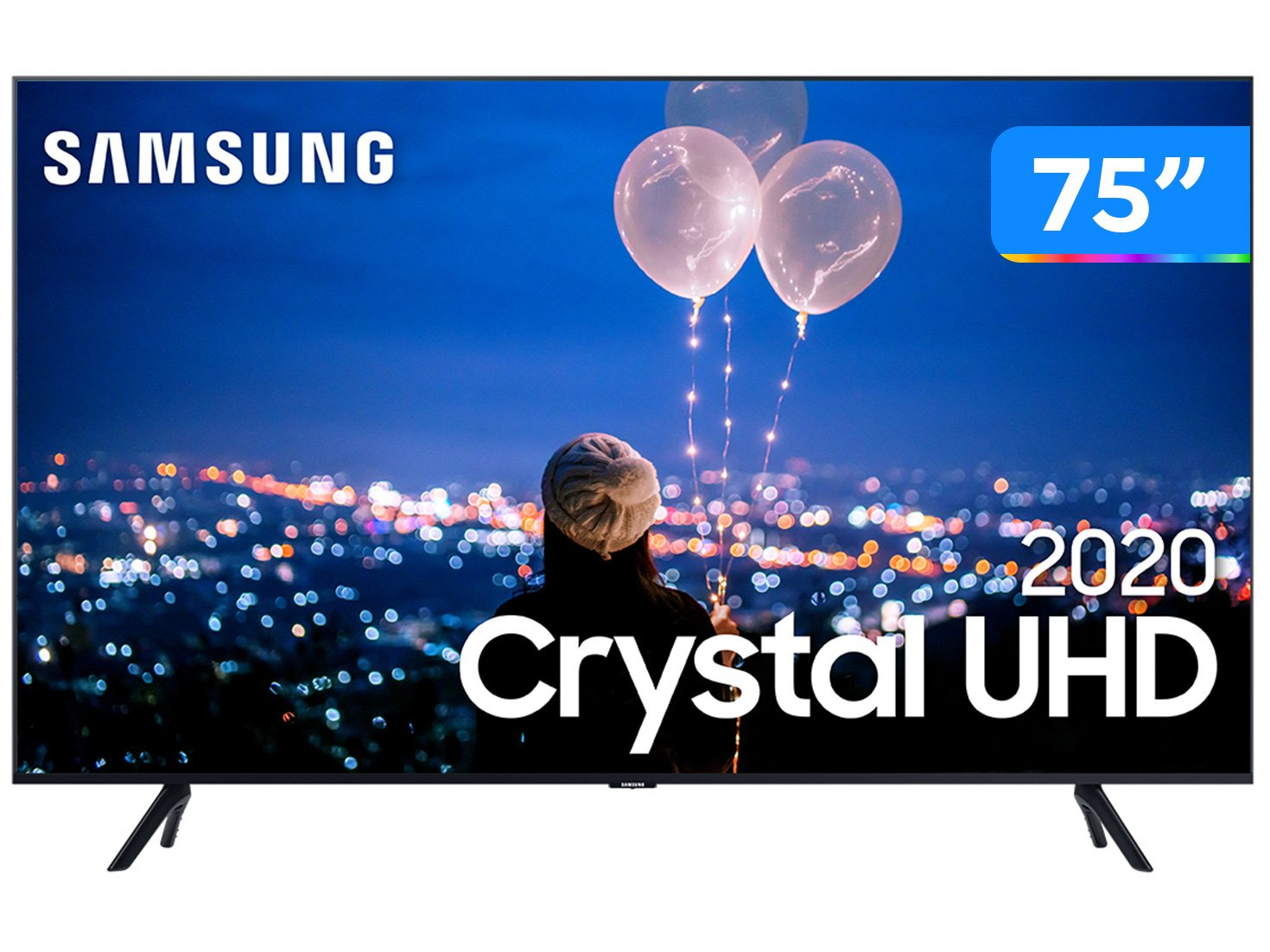 "Smart TV 4K LED 75"" Samsung UN75TU8000GXZD - Wi-Fi Bluetooth HDR 3 HDMI 2 USB - Bivolt"