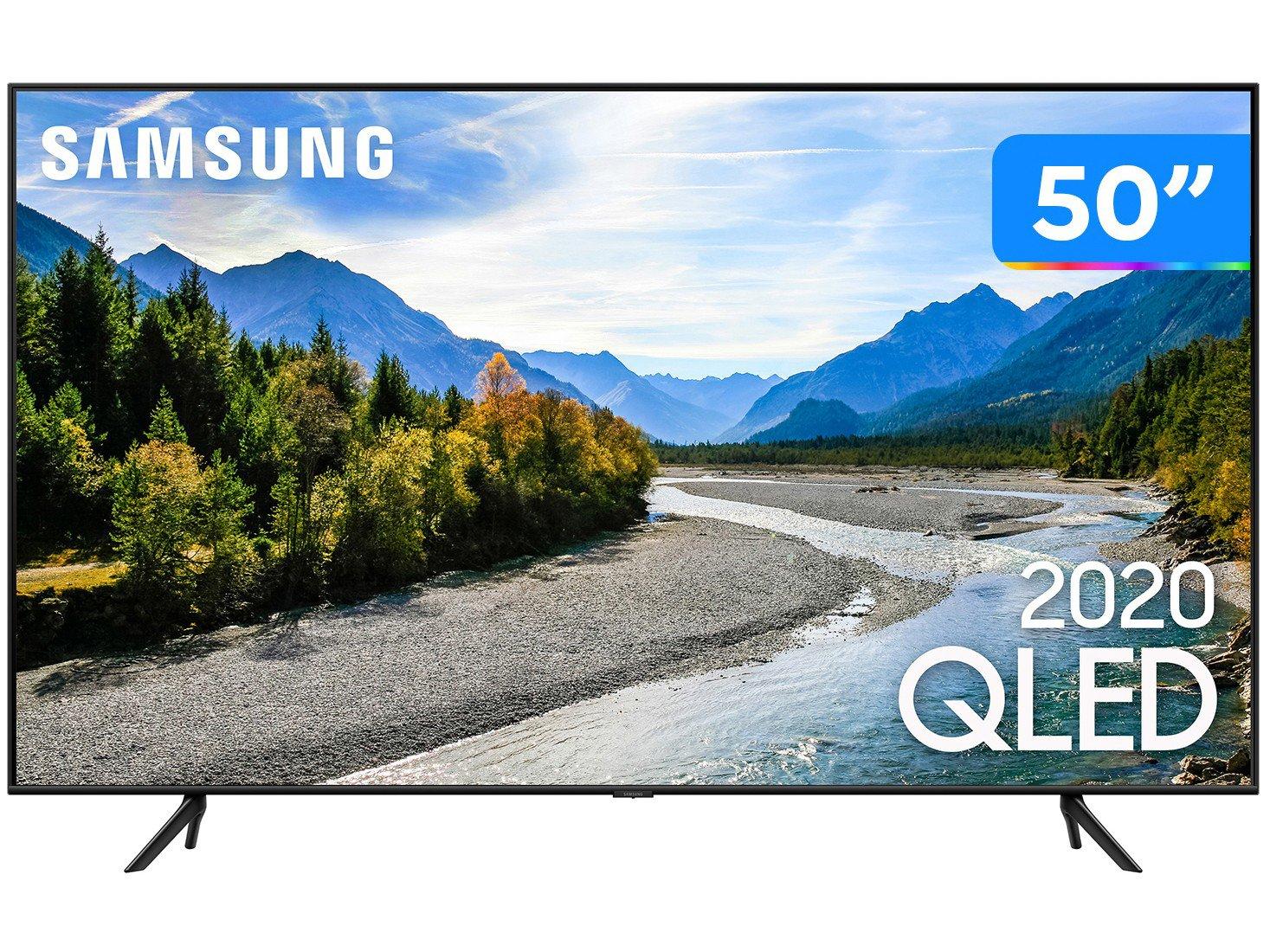 """Smart TV 4K QLED 50"""" Samsung QN50Q60TAGXZD - Wi-Fi Bluetooth HDR 3 HDMI 2 USB - Bivolt"""