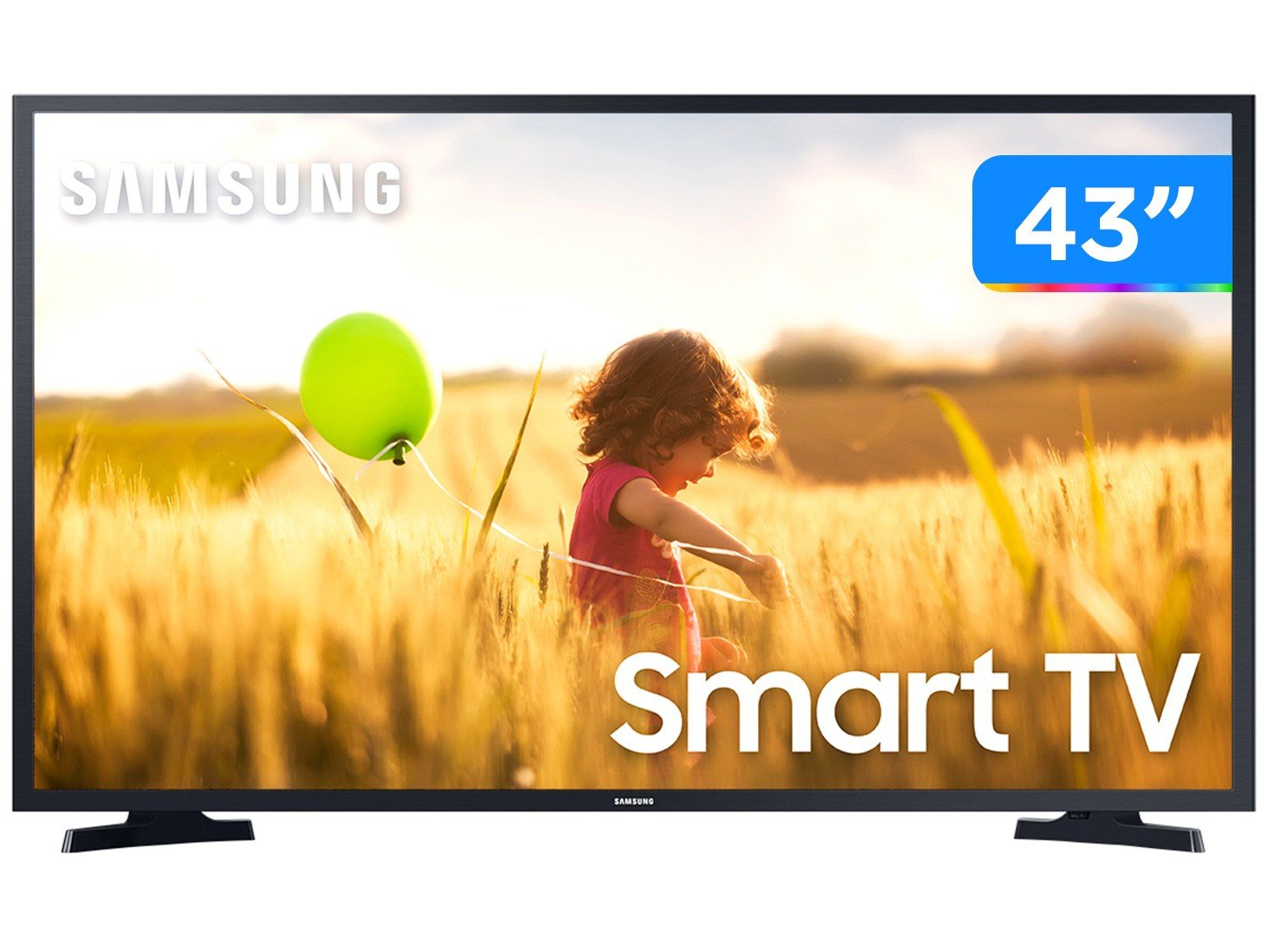 "Smart TV Full HD LED 43"" Samsung UN43T5300AGXZD - Wi-Fi Bluetooth HDR 2 HDMI 1 USB - Bivolt - 0"
