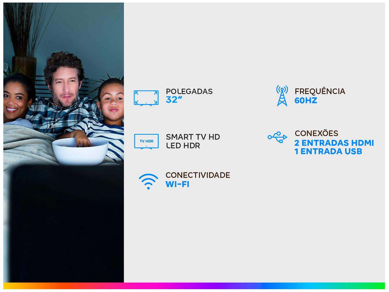 """Smart TV LED 32"""" Samsung UN32T4300AGXZD - Wi-Fi HDR 2 HDMI 1 USB - Bivolt - 1"""