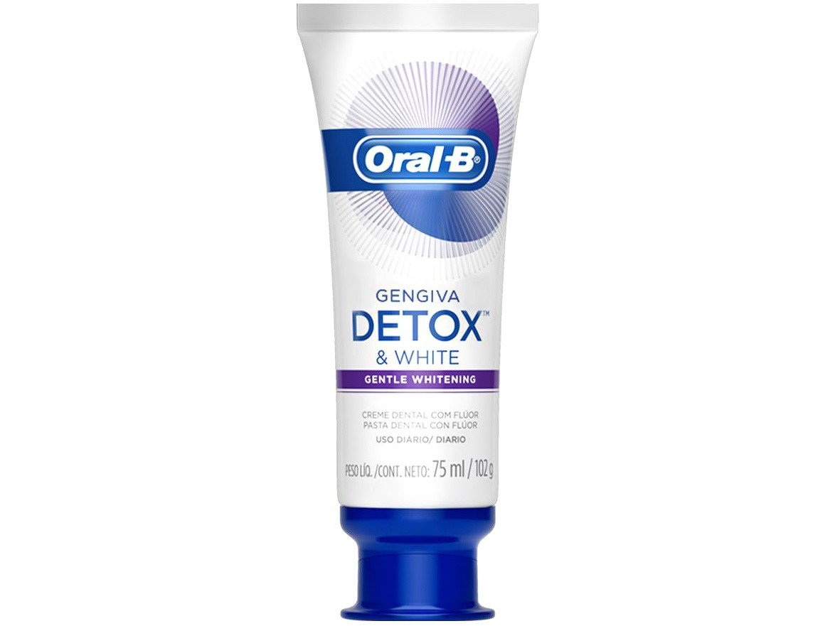 Creme Dental com Flúor Oral-B Detox - Gentle Whitening 102g